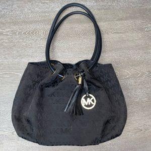 Michael Kors Black Ring Medium Tote Bag